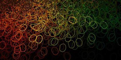 padrão de vetor verde escuro e amarelo com formas abstratas.