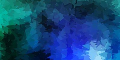 layout de triângulo poli vetor azul claro.
