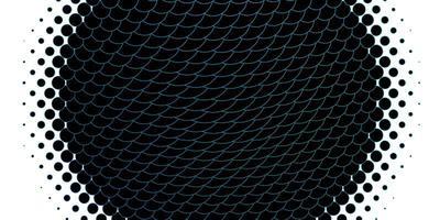 padrão de vetor azul claro com esferas.