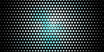 padrão de vetor azul escuro com círculos.