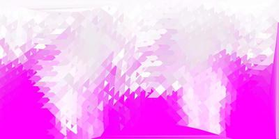 layout de triângulo poli de vetor rosa claro.