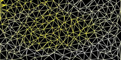 cenário poligonal de vetor amarelo claro.