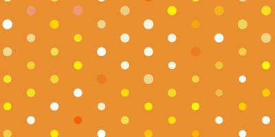 pano de fundo de vetor amarelo claro com pontos.