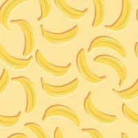 bananas padrão sem emenda de frutas com sombra dupla vetor