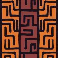 tribal étnico colorido padrão boêmio com elementos geométricos, pano de lama africano