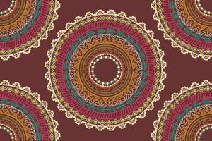 Padrão sem emenda de ornamento de círculo étnico asteca