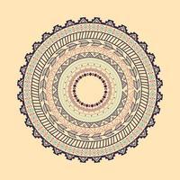 ornamento de círculo étnico asteca