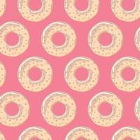 padrão sem emenda com rosquinhas coloridas saborosas brilhantes, ilustração vetorial vetor