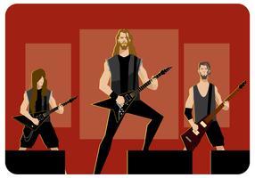 banda de metal no vetor de palco