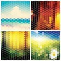coleção de fundo padrão geométrico abstrato colorido