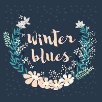 coleção colorida de arranjos florais de inverno e flores para convite, casamento ou cartões comemorativos