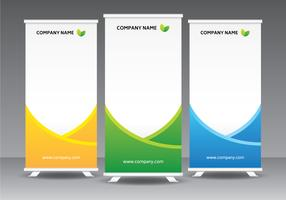 Modelo corporativo Standee vetor