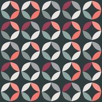 padrão geométrico sem costura com círculos coloridos em design retro vetor