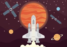 Ilustração de Exploração de Marte