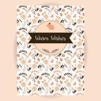 convite retro e design de cartão com padrão animal e flor sem emenda vetor