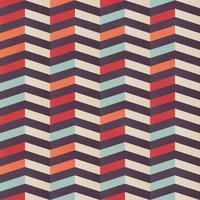 padrão geométrico sem costura chevron em cores retrô vetor