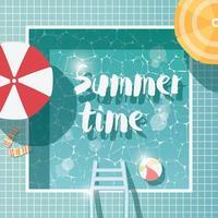 piscina, vista de cima, férias de verão, férias
