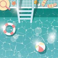 ícones planos de férias de verão com sombra longa, elementos de design