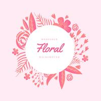Fundo floral Rosegold vetor