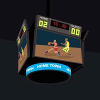 Ilustração de Jumbotron de basquete