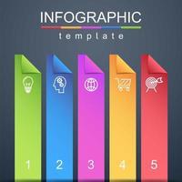 infográfico moderno modelo corporativo e de negócios