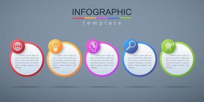 infográfico moderno modelo de banner corporativo e de negócios