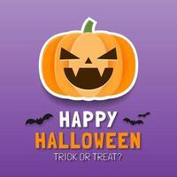 modelo de banner feliz dia das bruxas com abóbora assustadora