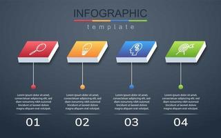 infográfico moderno modelo de banner corporativo e de negócios vetor