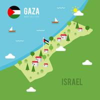 Vetor do mapa de Gaza
