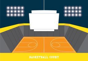 jumbotron na quadra de basquete vetor