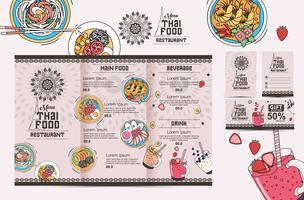 Thai menu template vector vol 3