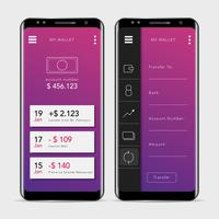 GUI de Aplicação de Banca Móvel Limpa e Moderna vetor