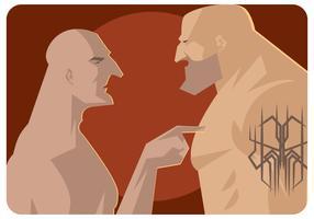 vetor de lutador intimidante