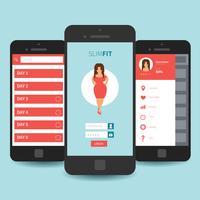Projeto de modelo de UI de aplicativo móvel vetor