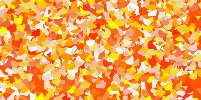 textura vector laranja claro com formas de memphis.
