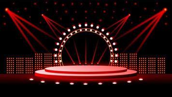 ilustração extravagante de palco cheia de luzes vetor