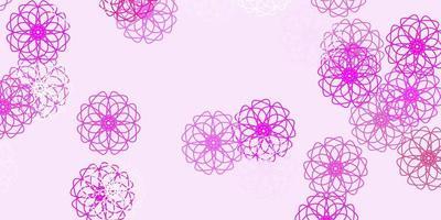 layout natural do vetor rosa claro com flores.