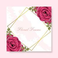 fundo floral frame