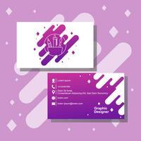 Cartão de visita do design gráfico vetor