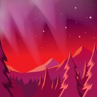 Paisagem da aurora boreal vetor