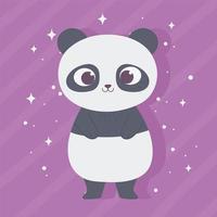 desenho animado animal adorável personagem selvagem pequeno panda vetor