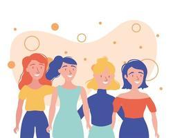 mulheres avatares amigos desenho vetorial vetor