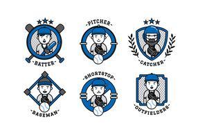 Vector de desenho animado da equipe de softball