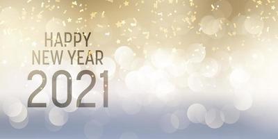 desenho decorativo de banner de feliz ano novo
