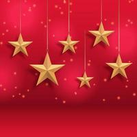 fundo de natal com estrelas douradas