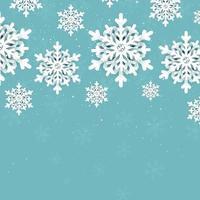 fundo de flocos de neve de natal vetor