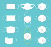 coleção de máscara facial branca