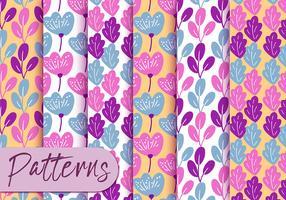 Conjunto de padrão de folha colorida