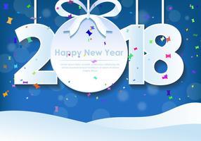 Feliz Ano Novo 2018 Saudação vetor