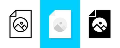 conjunto de ícones de armazenamento de álbum ou imagens e vídeos vetor